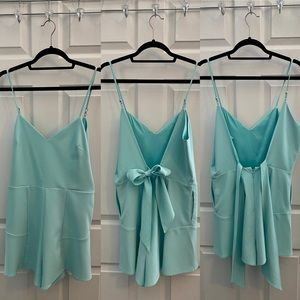 Mint blue/green romper with pockets Never worn